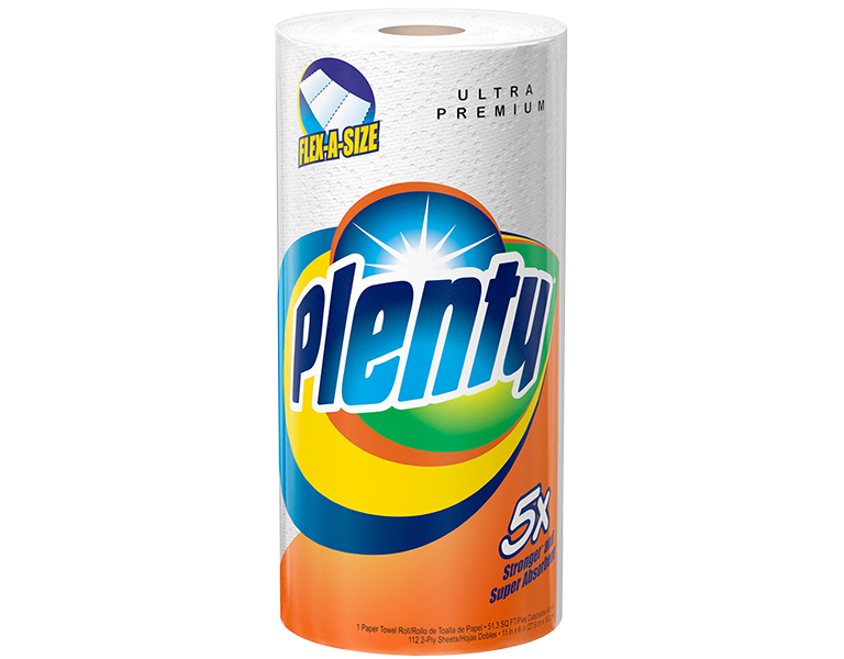 Plenty Paper Towels 1 pack flex-a-size